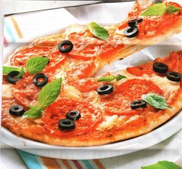 Пицца с индейкой на кефирном тесте